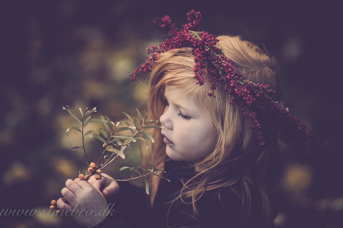 Hvordan foregår en børnefotografering i naturen?